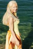 Sorriso 'sexy' da mulher imagens de stock royalty free