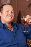 Sorriso 'sexy' do homem novo Fotografia de Stock Royalty Free