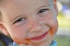 sorriso sudicio Immagine Stock