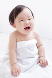 Sorriso sveglio dolce del bambino Immagine Stock Libera da Diritti