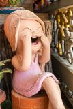 Sorriso tailandês Clay Dolls Fotografia de Stock