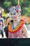 Sorriso tailandese della ragazza Fotografia Stock