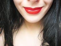 Sorriso vermelho Fotos de Stock Royalty Free