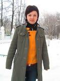 Sorrisos da menina do russo. fotografia de stock