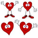 Sorrisos de sorriso do coração dos desenhos animados Foto de Stock