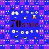 Sorrisos diferentes nos tons azul-violetas ilustração royalty free