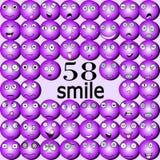 Sorrisos diferentes nos tons roxos ilustração stock