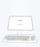 Sorrisos do computador ilustração stock