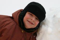 Sorrisos do menino Fotografia de Stock