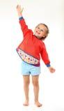 Sorrisos felizes e gestos da menina altos Imagens de Stock