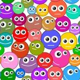 Sorrisos sem emenda do teste padrão Imagens de Stock