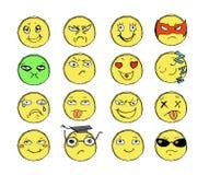 Sorrisos tirados Imagens de Stock Royalty Free