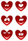 Sorrisos vermelhos do amor Foto de Stock
