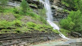 Sorrosal cascade Broto Huesca Pyrenees Huesca Spain stock footage