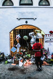 Sorrow in Charleston, SC. Stock Photo