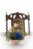 Sorrow. Flower arrangement at the table Royalty Free Stock Images