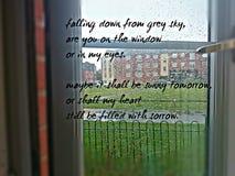 Sorrow in grey. Sad broken heart stock photography