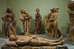 Sorrow over Dead Christ statues Royalty Free Stock Photo