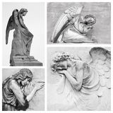 Sorrow. Sympathy card with angelic figures Royalty Free Stock Photos