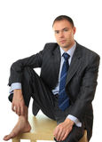 Sorrowful businessman. Businesses keep bad time Royalty Free Stock Photography