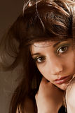 Sorrowful face Stock Photography