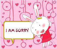 Sorry. Vector illustration of sorry from bugsy royalty free illustration