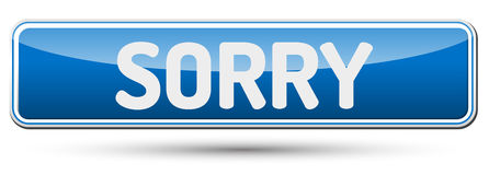 SORRY - Abstract beautiful button with text. Royalty Free Stock Photo