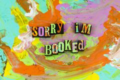 Sorry booked reading royalty free stock photography