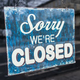 Sorry We Are Closed. A Sign Stating We Are Closed royalty free stock images