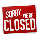 Sorry we are closed. Creative design Royalty Free Stock Photos
