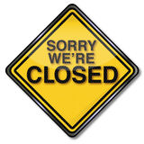 Sorry we are closed Royalty Free Stock Photo