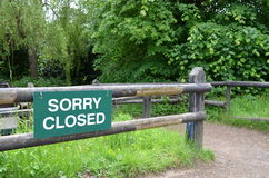 Sorry closed sign. Royalty Free Stock Photos