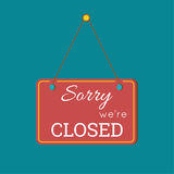Sorry  We Are Closed Sign Stock Photos