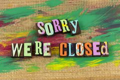 Sorry we are closed store royalty free stock images