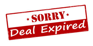 Sorry deal expired Royalty Free Stock Photos