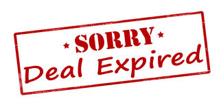 Sorry deal expired Stock Image