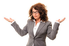 Sorry do not know business woman Stock Photography