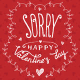 Sorry happy Valentine's day greeting card Stock Photo