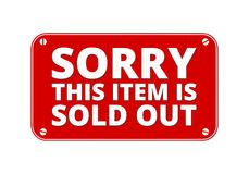 Sorry This item is Sold out - brass plate Royalty Free Stock Image