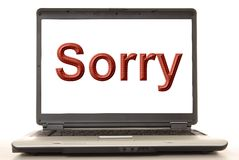 Sorry Laptop Royalty Free Stock Image