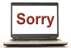 Sorry Laptop vector illustration