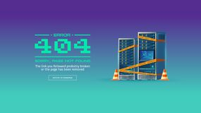 Page not found, 404 error vector concept banner Royalty Free Stock Photo