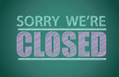 Sorry we're closed. Illustration design graphic background Stock Photography