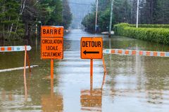 Sorry this road is closed royalty free stock photography
