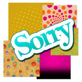 Sorry Text Over Various Backgrounds Stock Photo