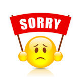 Sorry vector sign. Isolated on white background Royalty Free Stock Photography