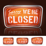 Sorry Were Closed Sign Royalty Free Stock Photography