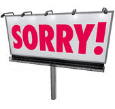 Sorry Word Billboard Apology Regret Remorse Asking Forgiveness S Stock Image