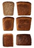 Sort av bröd från alla sidor Fotografering för Bildbyråer