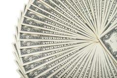 Sort d'argent liquide de dollars US Images libres de droits